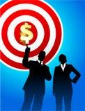 Het doel profiteert achtergrond met directeuren Royalty-vrije Stock Afbeelding