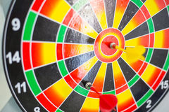 Het doel van de doelpijl om doelmarkt te centreren Stock Afbeelding