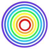 Het doel van de regenboog Stock Foto