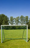 Het doel van de voetbal Stock Afbeelding