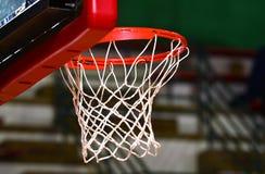 Het doel van het basketbal stock afbeelding