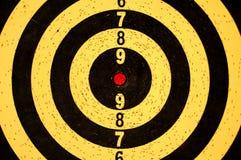 Het doel van het dartboard met aantallen Royalty-vrije Stock Foto