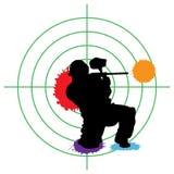 Het doel van Paintball Royalty-vrije Stock Fotografie