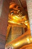 Het doen leunen van de tempel Bangkok Thailand van Boedha Wat Pho Stock Fotografie