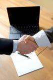 Het doen van de overeenkomst royalty-vrije stock afbeeldingen