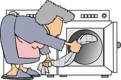 Het doen van wasserij vector illustratie