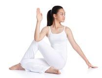 Het doen van yoga Stock Fotografie