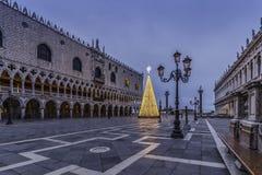 Het Doge` s Paleis bij Piazza San Marco in Venetië Royalty-vrije Stock Afbeelding