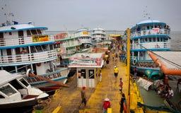 Het dok in Manaus royalty-vrije stock foto's