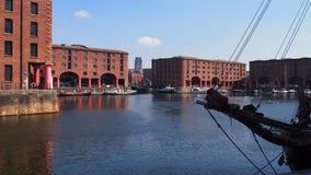 Het dok van Albert in Liverpool, Engeland stock afbeeldingen