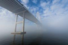Is het Dok van de Maniergang in Charleston South Carolina in Mist benieuwd Royalty-vrije Stock Afbeelding