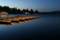 Het Dok van de Pijlpunt van het meer Royalty-vrije Stock Foto