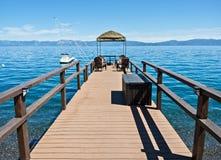 Het Dok van Tahoe van het meer stock afbeeldingen