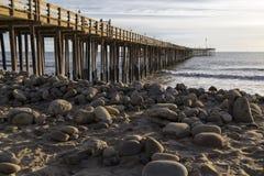 Het Dok in Ventura Beach royalty-vrije stock foto's