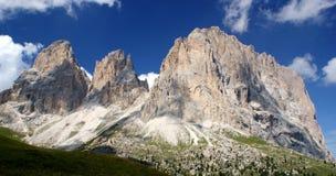Het Dolomiet Italië van de Pas van Sella Stock Afbeeldingen
