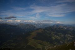 Het Dolomiet in Lecco, Italië Stock Foto's