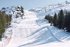 Het dolomiet van de skihelling Royalty-vrije Stock Afbeelding