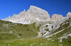 Het Dolomiet van Sexten, Italië Royalty-vrije Stock Afbeelding