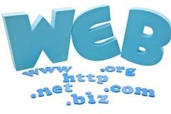 Het domeinuitbreiding van het Web Stock Fotografie