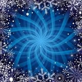 Het donkerblauwe frame van Kerstmis Royalty-vrije Stock Foto