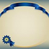 Het donkerblauwe lint van de zijdepremie stock illustratie