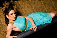 Het donkerbruine Model van het Haar van de Vrouw Royalty-vrije Stock Afbeelding