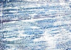 Het donkere beeld van de lei blauwe betrokken gewassen tekening Stock Foto