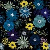 Het donkere bloeiende naadloze patroon van de Vrijheidsbloem, Zachte in I Royalty-vrije Stock Foto