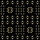Het donkere Geometrische Naadloze Patroon van het Sterrenmotief Stock Foto
