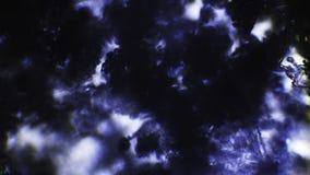 Het donkere kristal van de ijssneeuw macro geschotene 4k stock footage