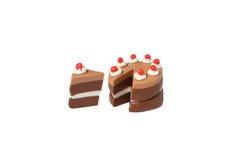 Het donkere model van de chocoladecake van Japanse klei Stock Afbeeldingen