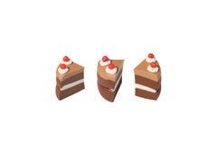 Het donkere model van de chocoladecake van Japanse klei Royalty-vrije Stock Foto's