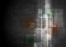 Het donkere ontwerp van de grungetechnologie. Vectormalplaatje stock illustratie