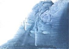 Het donkere patroon van de lei blauwe bevlekte waterverf Royalty-vrije Stock Foto