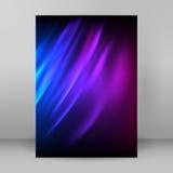 Het donkere purpere blauwe tijdschrift van het achtergrondonduidelijk beeldformaat A4 Stock Foto's