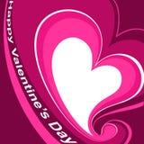 Het donkere roze van het hart Stock Afbeeldingen