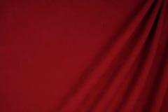 Het donkerrode gebruik van de fluweelstof voor achtergrond Royalty-vrije Stock Foto