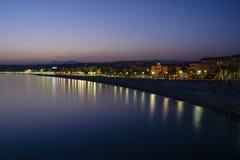 Het doorbrengen van een dag aan Franse Riviera in Nice. Stock Foto's