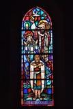 Het dopen van Clovis I vitrage Stock Foto's