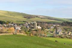 Het dorp Abbotsbury Engeland het UK van Dorset in het platteland Stock Foto