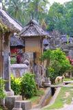 Het dorp bij tuin Royalty-vrije Stock Afbeeldingen