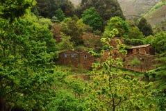 Het dorp in de berg Royalty-vrije Stock Afbeeldingen