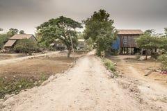Het dorp dichtbij Siem oogst Stock Fotografie