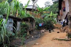 Het dorp en de mensen Oost- van Azië - Karen ethnie in Thailand royalty-vrije stock fotografie
