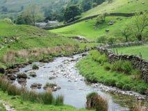 Het dorp en de stroom van Sadgill Royalty-vrije Stock Afbeelding