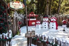 Het Dorp Gramado Brazilië van Kerstmis Stock Foto