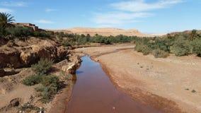 Het dorp had ben haddou over ouarzazate stock foto's