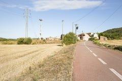 Het dorp Jorba, provincie van Santgenis van Barcelona, Spanje Stock Afbeeldingen
