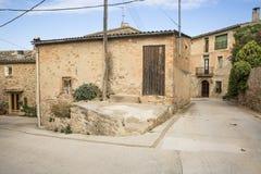 Het dorp Jorba, provincie van Santgenis van Barcelona, Spanje Royalty-vrije Stock Foto