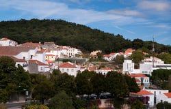 Het dorp Monchique van de berg in Portugal Stock Afbeelding